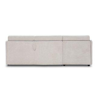 Canapé d'angle express compact INTENSO convertible 140cm matelas épaisseur 16cm