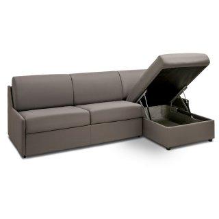 Canapé d'angle express compact RISTRETTO convertible 140cm matelas épaisseur 16cm
