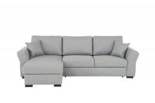 Canapé d'angle réversible convertible avec coffre NIZZA tissu gris malmo