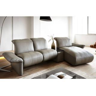 Canapé d'angle droite 2/3 places haut de gamme ELENA de KOINOR 307m avec table intégrée