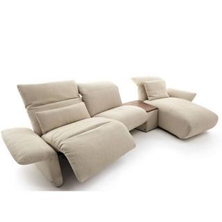 Canapé d'angle droite relax manuel 2/3 places haut de gamme ELENA de KOINOR 297cm avec table intégrée