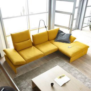 Canapé d'angle droite 2/3 places haut de gamme HOUSTON de KOINOR 299cm dossiers et accoudoirs réglables