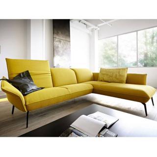 Canapé d'angle péninsule droite 2/3 places haut de gamme FLIRT de KOINOR 237cm dossiers et accoudoirs réglables