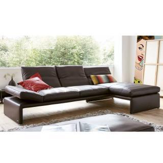 Canapé d'angle droite 4 places haut de gamme RAOUL de KOINOR dossiers et accoudoirs réglables