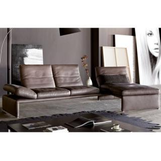 Canapé d'angle droite 2/3 places haut de gamme RAOUL de KOINOR avec table intégrée