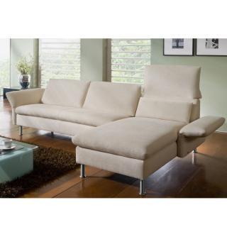 Canapé d'angle droite 3 places haut de gamme VITTORIA de KOINOR dossiers et accoudoirs réglables
