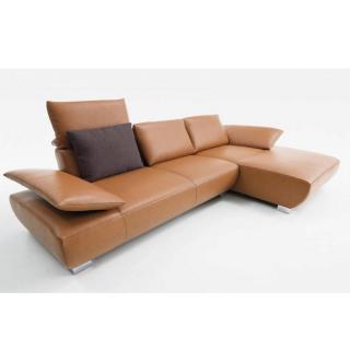 Canapé d'angle droite 3/4 places haut de gamme VOLARE de KOINOR 331cm dossiers et accoudoirs réglables