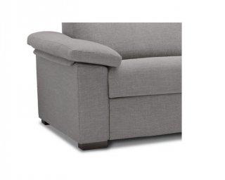 Canapé d'angle Méridienne droite express ALBINA 120 cm déhoussable matelas 14 cm Encombrement ouvert : 206 cm