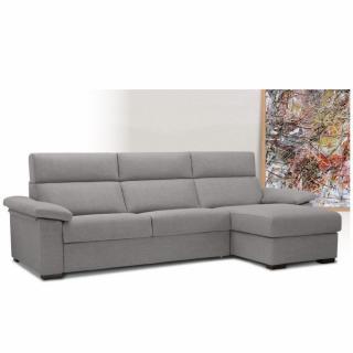 Canapé d'angle Méridienne droite express ALMA 140 cm déhoussable matelas 18 cm Encombrement ouvert : 206 cm