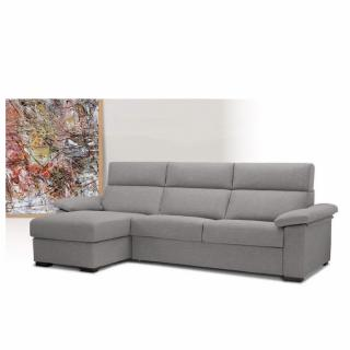 Canapé d'angle Méridienne gauche express ALMA 140 cm déhoussable matelas 18 cm Encombrement ouvert : 206 cm