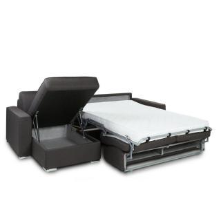 Canapé d'angle convertible RAPIDO PREMIUM 140 cm sommier lattes RENATONISI matelas BULTEX 14cm