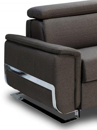 Canapé d'angle REAUMUR convertible EXPRESS 140 cm matelas 16 cm pieds luge