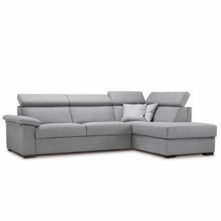 Canapé d'angle Péninsule droite express ROMA 140 cm déhoussable matelas 14 cm Encombrement ouvert : 206 cm