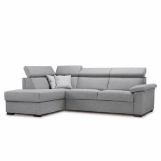 Canapé d'angle Péninsule gauche express ROMA 140 cm déhoussable matelas 14 cm Encombrement ouvert : 206 cm