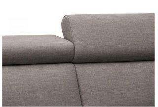 Canapé d'angle Péninsule droite express ROSALIA 120 cm déhoussable matelas 18 cm Encombrement ouvert : 206 cm