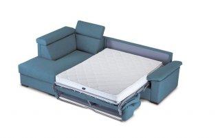 Canapé d'angle Péninsule gauche express ROSALIA 160 cm déhoussable matelas 18 cm Encombrement ouvert : 206 cm