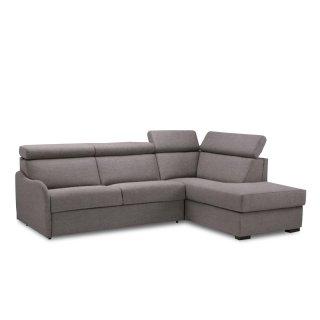 Canapé d'angle Péninsule droite express RENATA 140 cm déhoussable matelas 14 cm Encombrement ouvert : 206 cm