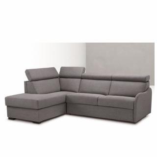 Canapé d'angle Péninsule gauche express RENATA 140 cm déhoussable matelas 14 cm Encombrement ouvert : 206 cm