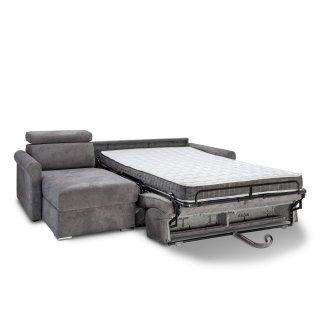 Canapé d'angle convertible EXPRESS VAUGIRARD couchage 120cm sommier lattes matelas 16cm