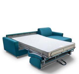 Canapé d'angle VIRGOLA convertible EXPRESS 140 cm sommier lattes matelas 16 cm