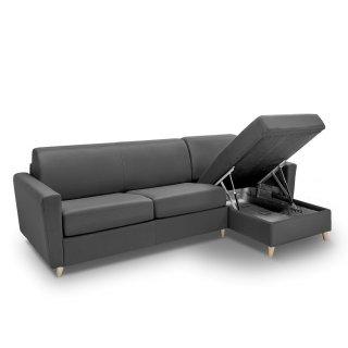 Canapé d'angle VIRGOLA convertible EXPRESS 160 cm sommier lattes matelas 16 cm