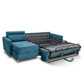 Canapé d'angle WAGRAM convertible EXPRESS 140 cm matelas 16 cm têtières ajustables