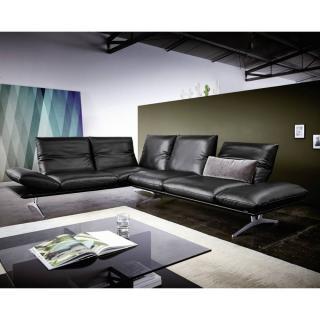 Canapé d'angle péninsule gauche haut de gamme FRANCIS de KOINOR 256cm cm dossiers et accoudoirs réglables