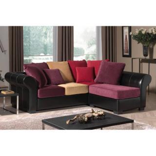 Canapé d'angle fixe 3 places MORELIA