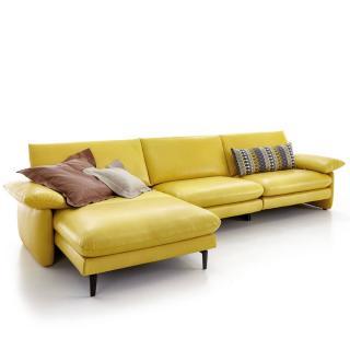 Canapé d'angle gauche 2/3 places haut de gamme COSIMA de KOINOR 277cm dossiers réglables