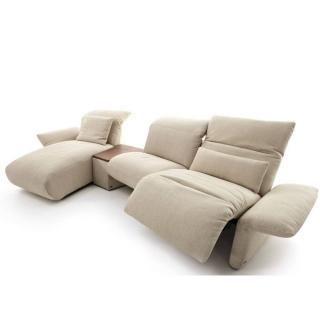 Canapé d'angle gauche 4 places haut de gamme ELENA de KOINOR 347cm avec assises motorisées par Touch It Technology