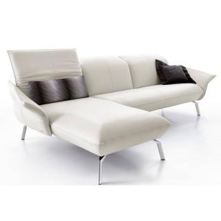 Canapé d'angle gauche 2/3 places haut de gamme FLIRT de KOINOR 240cm dossiers et accoudoirs réglables