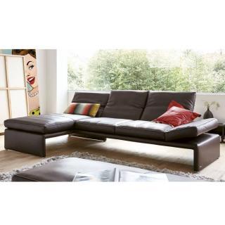 Canapé d'angle gauche 4 places haut de gamme RAOUL de KOINOR dossiers et accoudoirs réglables