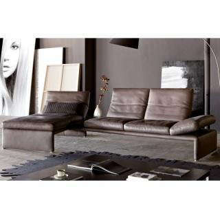 Canapé d'angle gauche 2/3 places haut de gamme RAOUL de KOINOR avec table intégrée
