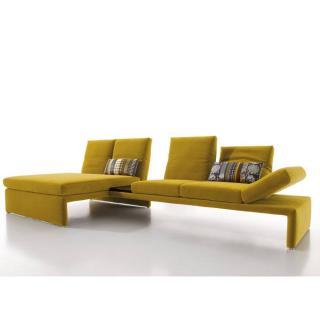 Canapé d'angle gauche 4/5 places haut de gamme RAOUL de KOINOR avec table intégrée