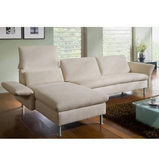 Canapé d'angle gauche 2/3 places Small haut de gamme VITTORIA de KOINOR dossiers et accoudoirs réglables