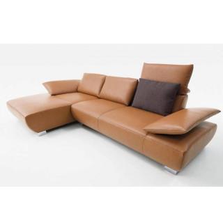 Canapé d'angle gauche 3/4 places haut de gamme VOLARE de KOINOR 331cm dossiers et accoudoirs réglables