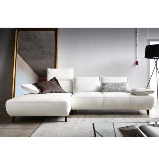 Canapé d'angle gauche 2/3 places haut de gamme VOLTA de KOINOR 293cm dossiers et accoudoirs réglables
