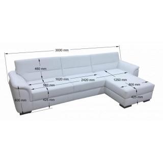 Canapé d'angle gigogne convertible express HAMILTON méridienne gauche
