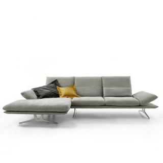 Canapé d'angle gauche fixe haut de gamme FRANCIS de KOINOR 284cm cm dossiers et accoudoirs réglables