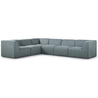 Canapé d'angle fixe modulable et réversible XL MOVE tissu Vert