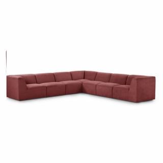 Canapé d'angle fixe modulable et réversible XXL MOVE tissu Rouge