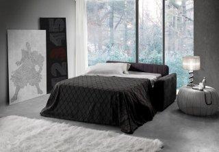 Canapé d'angle convertible EXPRESS panoramique MARGOT couchage 140*200 cm matelas 16cm angle droit