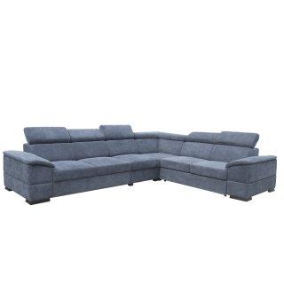 Canapé d'angle péninsule droite convertible MALLOW gris