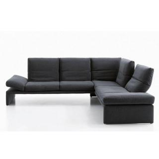 Canapé d'angle péninsule droite 3/4 places haut de gamme RAOUL de KOINOR 286cm dossiers et accoudoirs réglables