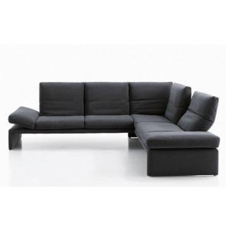 Canapé d'angle péninsule droite 4 places haut de gamme RAOUL de KOINOR 316cm dossiers et accoudoirs réglables