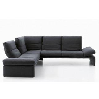 Canapé d'angle péninsule gauche 2/3 places haut de gamme RAOUL de KOINOR 256cm dossiers et accoudoirs réglables