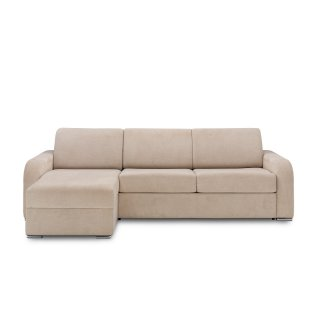 Canapé d'angle convertible express 140 cm SOFIA sommier lattes matelas 16 cm