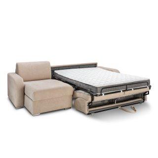 Canapé d'angle convertible express 140 cm SOFIA matelas 16 cm