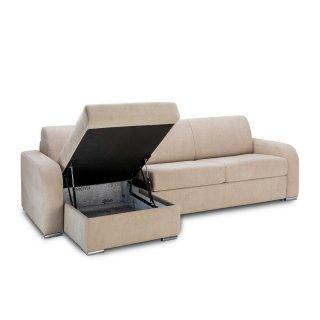 Canapé d'angle convertible express160 cm SOFIA sommier lattes matelas 16 cm