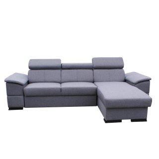 Canapé d'angle convertible gigogne MALLOW gris graphite